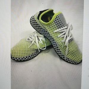 Adidas runner green white mesh